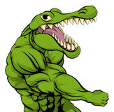 Alligator or crocodile mascot punching Stock Photography