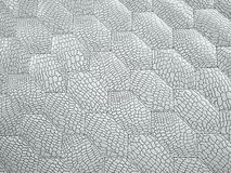 Alligator or crocodile white Leather hexagon stitched texture. Alligator or crocodile white Leather. hexagon or honeycomb stitched texture or background with stock illustration