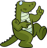 Alligator Dancing. A happy cartoon alligator dancing and smiling Royalty Free Stock Photo