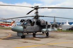 Alligator des Hubschrauber-Ka-52 an der internationalen Luftfahrt und am Badekurort stockfotografie