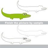 Alligator. Drawing worksheet. Stock Photo