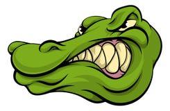 Alligator- eller krokodilmaskot Arkivbilder