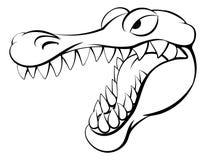 Alligator- eller krokodiltecknad filmtecken Fotografering för Bildbyråer