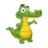 Alligator. EPS 10  clipart Royalty Free Stock Photography