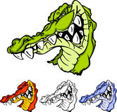 Alligator-/Gator Maskottchen-Zeichen Lizenzfreie Stockfotos