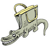 Alligator Handbag Stock Photography