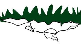 Alligator isolated illustration simple lines royalty free illustration