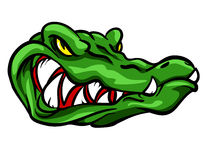 Alligator mascot, team label design Stock Photo