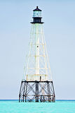 Lighthouse. Alligator Reef Lighthouse located off of Islamorada in the Florida Keys Stock Photo