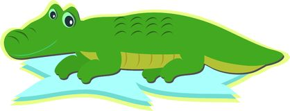 Alligator Resting Royalty Free Stock Images