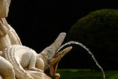Alligator shaped fountain Royalty Free Stock Photography