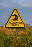Alligator Sign Royalty Free Stock Photography