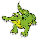 Alligator. Single colorful alligator on white Royalty Free Stock Photo