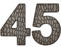 Alligator skin font 4 5 digits Royalty Free Stock Photos