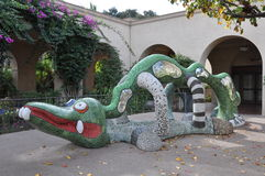 Alligator Statue at Balboa Park in San Diego Royalty Free Stock Images