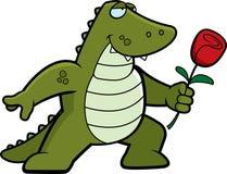 alligatorblomma vektor illustrationer