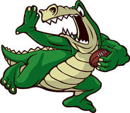 Alligatore corrente Fotografia Stock