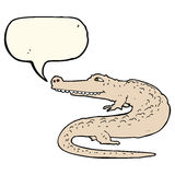 alligatore del fumetto con il fumetto Immagine Stock