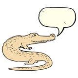 alligatore del fumetto con il fumetto Immagini Stock