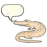 alligatore del fumetto con il fumetto Fotografia Stock
