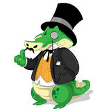 Alligatorkarikatur Lizenzfreie Stockfotografie