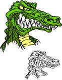 Alligatormaskottchen-Zeichen Lizenzfreie Stockfotografie