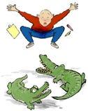 Alligators acérés illustration de vecteur