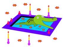 Alligators njutning vektor illustrationer
