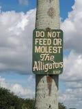 Alligatorwarnzeichen stockfoto