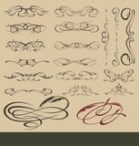Сalligraphic design elements Stock Images