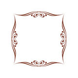 Сalligraphic frames .Vintage .Well built for easy editing.Vector illustration. Royalty Free Stock Photo