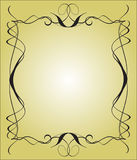 alligraphy框架 库存例证