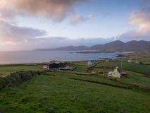 Allihies village, beara peninsula,cork Ireland. Beara peninsula, Ireland at sunset stock photography