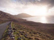 Allihies village, beara peninsula,cork Ireland. Beara peninsula, Ireland at sunset stock photos