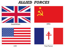 Alliierte Streitkräfte in Weltkrieg 2 Lizenzfreies Stockfoto