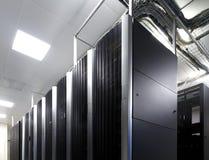 Allinea i supercomputer moderni nel centro dati di calcolo Immagini Stock Libere da Diritti