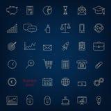 Allinea le icone 3 di affari Fotografia Stock Libera da Diritti