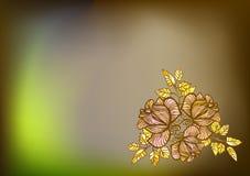 Allinea le rose nel fondo floreale vago vettore Fotografie Stock
