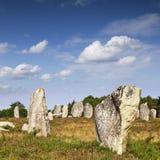 Allineamenti Brittany France di Carnac Fotografia Stock