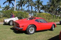 Allineamento d'argento rosso 03 di Ferrari Dino Immagine Stock