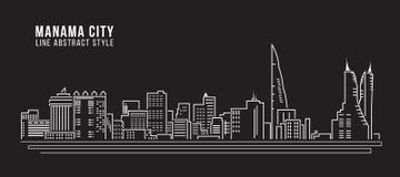 Allineamento dei fabbricati di paesaggio urbano arte Immagine Stock Libera da Diritti