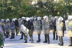 Allineamento dei poliziotti Fotografia Stock