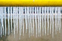 Allineamento del ghiacciolo Fotografie Stock Libere da Diritti