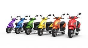 Allineamento del motociclo Immagini Stock