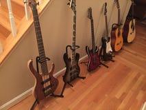 Allineamento della chitarra Fotografie Stock