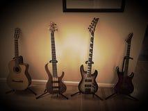 Allineamento della chitarra Fotografia Stock