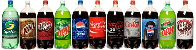 Allineamento della soda Immagine Stock Libera da Diritti