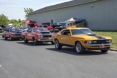 Allineamento delle automobili del muscolo Fotografie Stock