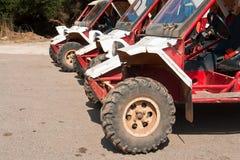 Allineamento di ATV fuori strada Fotografia Stock