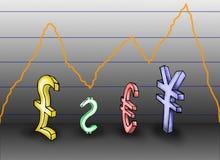 Allineamento di valuta Immagini Stock